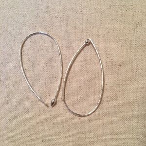 Stella & Dot Small Hammered Wire Hoops in Silver